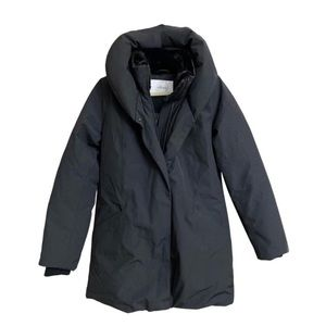 Wilfred Cocoon Down Parka in Black NWT
